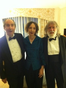 Phiip Roth, Joyce Carol Oates, Charles Gross, before the ceremony in Roth's hotel room.