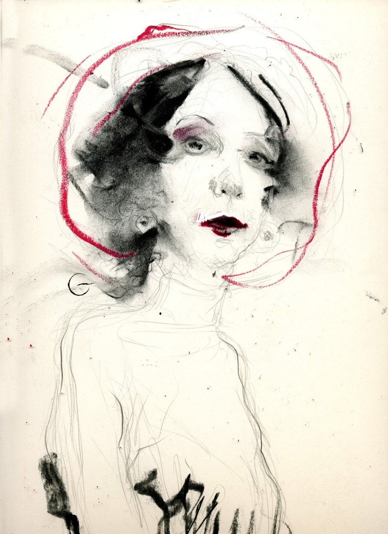 Joyce Carol Oates sketch by Paolo Galetto