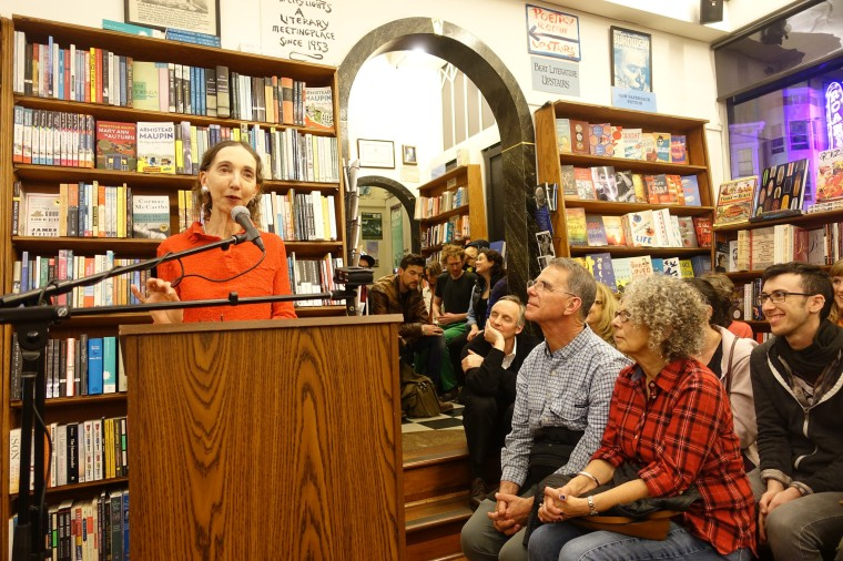 Joyce Carol Oates at City Lights Books, February 3, 2015. Photo by Steve Rhodes.