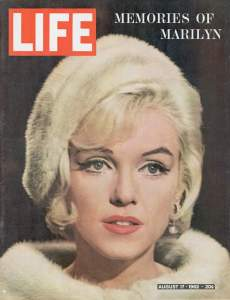 LIFE cover 8-17-1962: Memories of Marilyn.