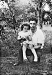 Joyce Carol Oates with her father, Frederic Oates, 1943