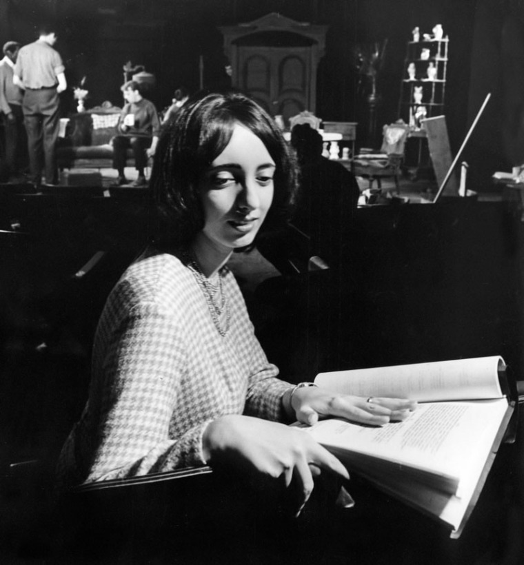 Joyce Carol Oates at rehearsals of The Sweet Enemy in 1965